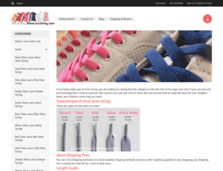 shoelacestring.com screenshot