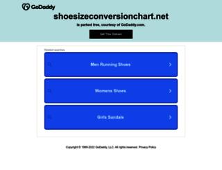 shoesizeconversionchart.net screenshot