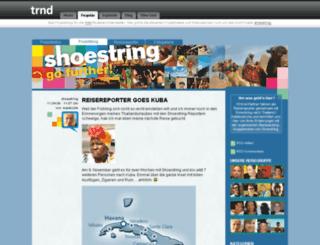 shoestring.trnd.com screenshot