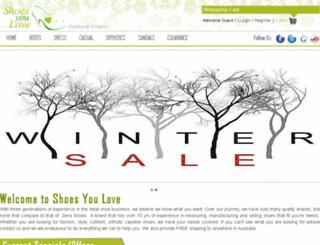 shoesyoulove.net screenshot