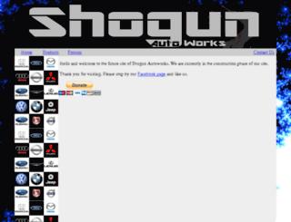 shogunautoworks.com screenshot