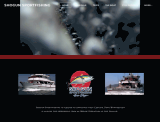 shogunsportfishing.com screenshot