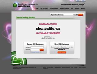 shonenlife.ws screenshot