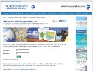 shootingonlocation.com screenshot