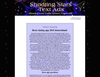 shootingstarstextads.net screenshot