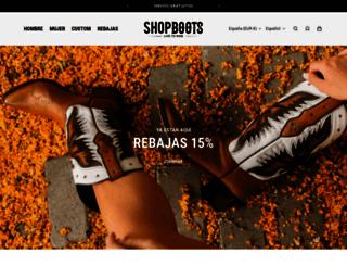 shop-bottes.fr screenshot
