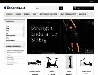 shop-uk.concept2.com screenshot