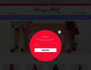 shop.alannahhill.com.au screenshot