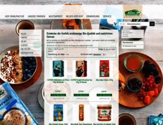 shop.allos.de screenshot