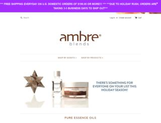 shop.ambreblends.com screenshot