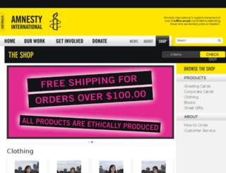shop.amnesty.org.au screenshot
