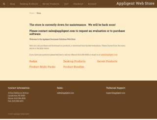 shop.appligent.com screenshot