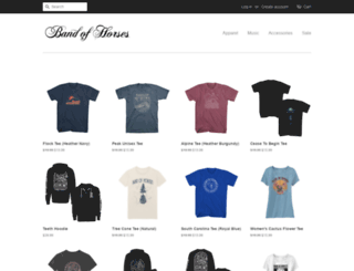 shop.bandofhorses.com screenshot