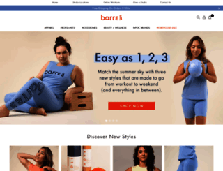 shop.barre3.com screenshot