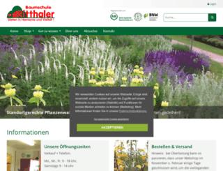 shop.baumschuleritthaler.de screenshot