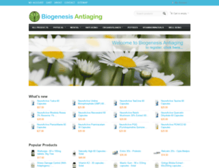 shop.biogenesis-antiaging.com screenshot