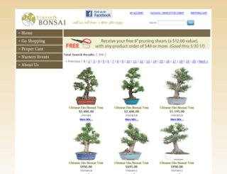 shop.brusselsbonsai.com screenshot