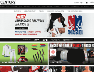 shop.centurymartialarts.com screenshot