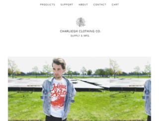 shop.charliegh.com screenshot