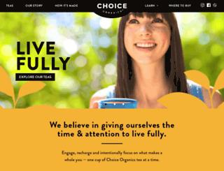 shop.choiceorganicteas.com screenshot