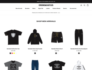 shop.crooksncastles.com screenshot