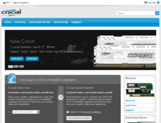 shop.crucial.com screenshot
