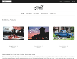 shop.crystalgolfresort.com screenshot