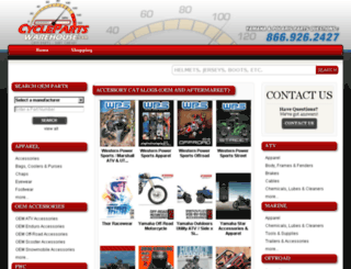 shop.cyclepartswarehouse.com screenshot