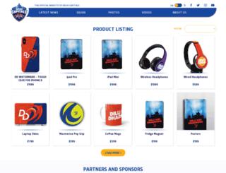 shop.delhidaredevils.com screenshot