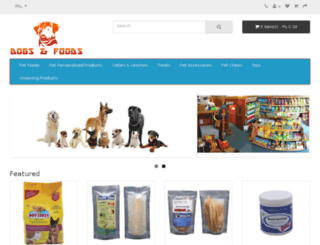 shop.dogsandfoods.com screenshot
