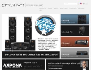 shop.emotiva.com screenshot