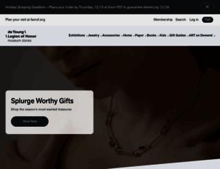 shop.famsf.org screenshot