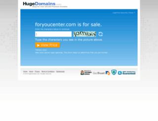 shop.foryoucenter.com screenshot
