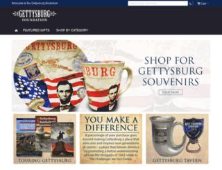 shop.gettysburgfoundation.org screenshot