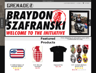 shop.grenadegloves.com screenshot