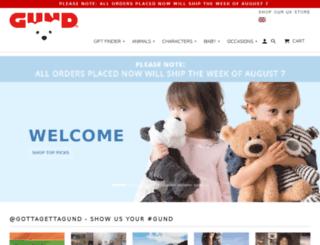 shop.gund.com screenshot
