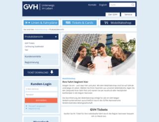 shop.gvh.de screenshot