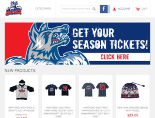 shop.hartfordwolfpack.com screenshot