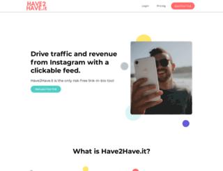 shop.have2have.it screenshot