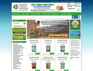 shop.healthychoicenaturals.com screenshot