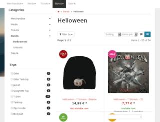 shop.helloween.org screenshot
