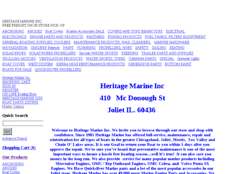 shop.heritagemarineinc.com screenshot