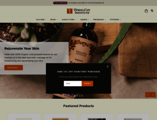 shop.himalayaninstitute.org screenshot