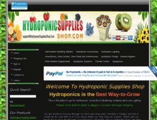 shop.hydroponicsuppliesshop.com screenshot