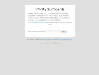 shop.infinitysurf.com screenshot