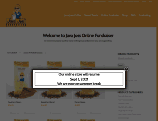 shop.javajoesfundraising.com screenshot