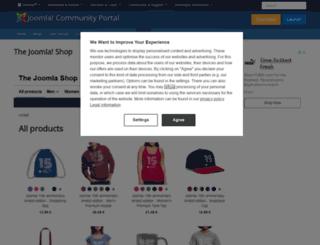 shop.joomla.org screenshot
