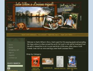 shop.justinwilson.com screenshot