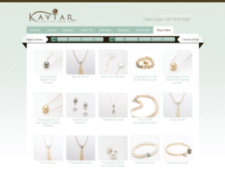 shop.kaviarpearls.com screenshot
