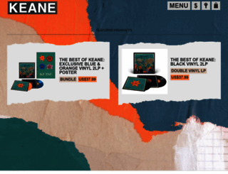 shop.keanemusic.com screenshot